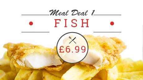 Fish supper meal deal £6.99