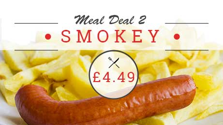 Smoked sausage meal deal £4.49